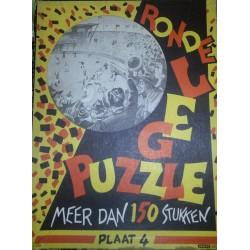 Ronde legpuzzle Voetbalwedstrijd 1942