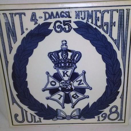 Tegeltje Vierdaagse 1981