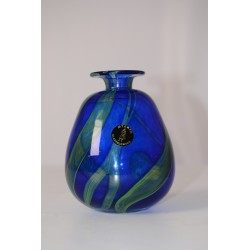 Vaas Mtarfa Maltees glas mauveyblauw