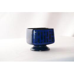 Bloempot Strehla 619-2 Blauw vierkant