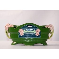 Jardiniere 243 Art Nouveau groen