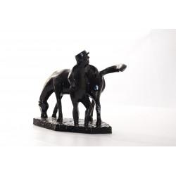 Beeld Tenax Boer met paard
