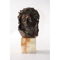 Buste van Jezus brons op marmer