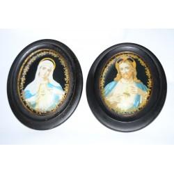 Wandhangers Jezus en Maria