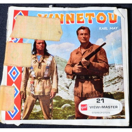 Viewmaster schijfjes Winnetou B731