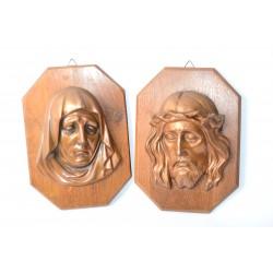 Plaquettes van Maria en Jezus