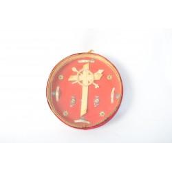 Reliekenschrijn met gewijde palm, Agnus Dei, Heilig bloed en een paaschnagel