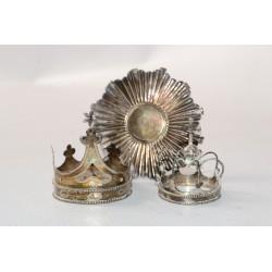 3 zilveren kronen voor Maria - Zilver - 1840 - 1890