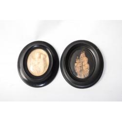 Diorama van Sint Jozef achter bol glas