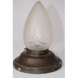 Lamp geslepen glas Art Deco
