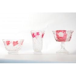 Set van 3 Kristallen schalen / vaas