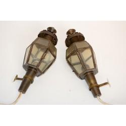 Set koperen kerklampjes